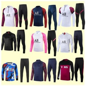 Wholesale soccer jogging for sale - Group buy soccer training suit MBAPPE Long sleeve sweatshirt maillot de foot DI MARIA VERRATTI football jogging jacket tracksuit