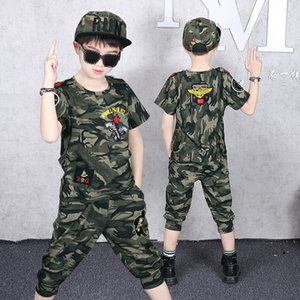 Wholesale boys tracksuit 12 for sale - Group buy Fashion Toddler Boys Clothing Set Cotton Camouflage Short Sleeve Tshirts Summer Tracksuits for Teenagers Clothes Outfits Y