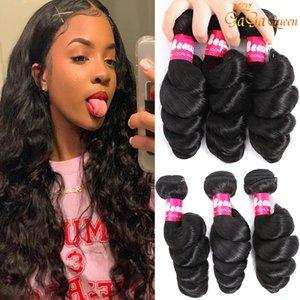 Gagaqueen Brazilian loose wave Virgin Hair 3 Bundles loose wave Human Hair Extensions Peruvian Malaysian Indian Virgin Hair Loose Wave