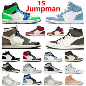 Wholesale jordan air shoes for sale - Group buy Top Quality Jumpman s Air Jordan aj1 Basketball Shoes Silver Toe High Dark Mocha Obsidian UNC Fearless Patent University Blue Smoke Grey Chicago Sneakers