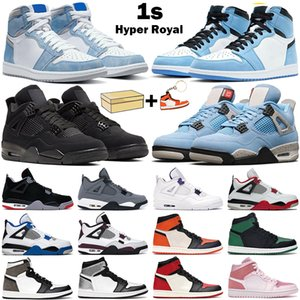 Wholesale coolest basketball shoes for sale - Group buy Basketball shoes men women s high OG University Blue Hyper Royal Silver Toe s Cool Grey Black Cat mens trainers athletic sneakers