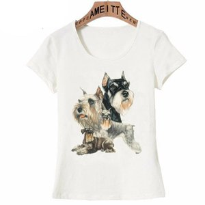schnauzer miniature achat en gros de-news_sitemap_homeMiniature Schnauzer Collage T shirt T shirt Femme manches courtes Clever mignon Design Casual Girl Casual Tops Summer Blanc Tees