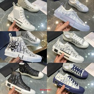 zapatos de hombre casual al por mayor-New Designer Sneakers B23 Oblique High Top Mens Sneaker B24 Técnico Técnica Cuero Mujeres Zapatos Casuales Bee Top Tim Tringers