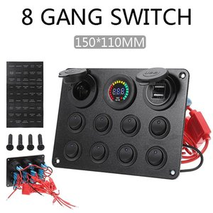 Wholesale car circuit breakers for sale - Group buy Gang Marine Boat LED Circuit Breaker Toggle Switch Panel With Digital Voltmeter Dual USB Port For Car RV Truck ATV Parts