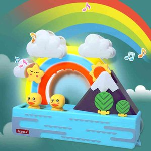 Wholesale baby electric resale online - 2021 New Baby Bath Toys Ducks Electric Rainbow Shower Toys With Lighting Music Bathroom Educational Water Game For Kids L0323