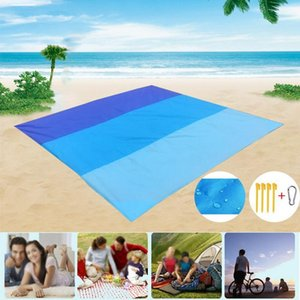Wholesale portable outdoor camping mat for sale - Group buy 200x210cm Portable Pocket Picnic Mat Waterproof Sand Beach Outdoor Camping Folding Blanket Picknick Tent Cover Bedding Bed Pads
