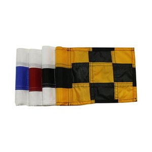 Wholesale flags checkered resale online - Checkered Golf Flag With Tube Inserted Putting Green Flags For Yard Durable Tear Resistant Nylon Mini Pin Marks Outdoor Training Aids