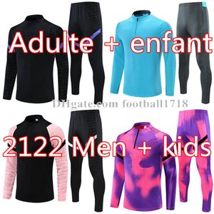 Wholesale soccer jogging resale online - 21 Men football tracksuit Real madrid soccer training suit mens Kids MBAPPE survetement maillots de foot chandal tuta jogging