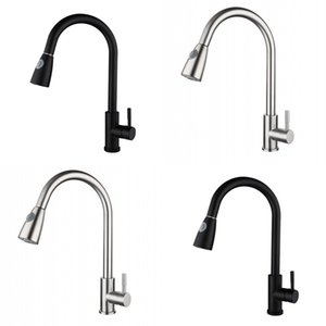 Wholesale kitchen faucets pull out sprayer for sale - Group buy Pull out Faucets Stainless Steel Kitchen Single Hole Sink Multifunction Faucet Stream Sprayer Degree Rotation Pull Out Mixer Tap R2