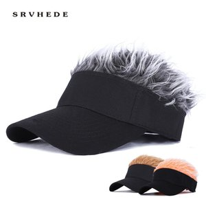 Wholesale adjustable wigs for sale - Group buy Baseball Cap With Spiked Hairs Wig Baseball Hat With Spiked Wigs Men Women Casual Concise Sunshade Adjustable Sun Visor