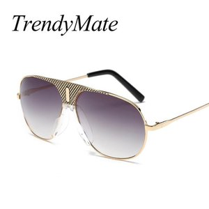 Wholesale desinger sunglasses resale online - TrendyMate Fashion Sunglasses Men Mirror Mens Sun Glasses Big Oversized Driver Desinger Retro Eyewear HD Lens Glass T