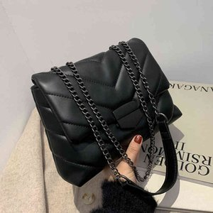 Wholesale designer crossbody bags women for sale - Group buy Famous Luxury Women Brand Handbags Female Shoulder Crossbody Chain Cute Leather Black Stylish Petty Square Mobile Phone Bag