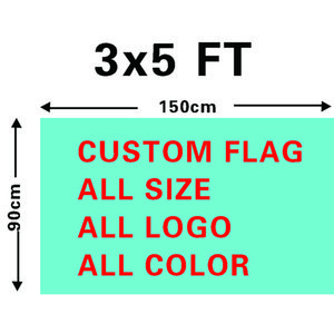 Wholesale Digital Printing Single layer Polyester Custom Design Flag 3x5ft with Two Brass Grommets