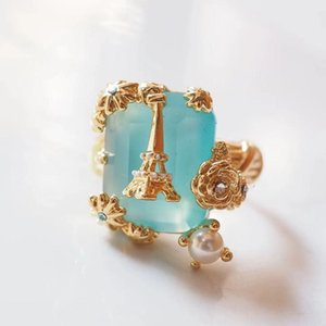Wholesale eiffel earrings resale online - 2020 Amybaby Luxury Enamel Glaze Paris Eiffel Tower Womens Tassels Drop Earrings Necklace Ring Bracelet Jewelry For Party