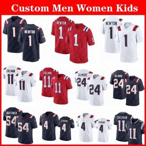 Wholesale patriot jerseys resale online - 1 Cam Newton Julian Edelman Football Jersey Stephon Gilmore Hunter Henry Matthew Judon Jonnu Smith Jarrett Stidham England Custom Men Women Patriot Kids