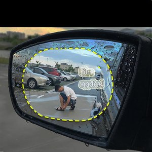 Wholesale car rear view mirrors sticker resale online - Rear View Mirror Waterproof Film Rain Proof Fog Proof And Glare Protective Sticker Car Accessories Sunshade
