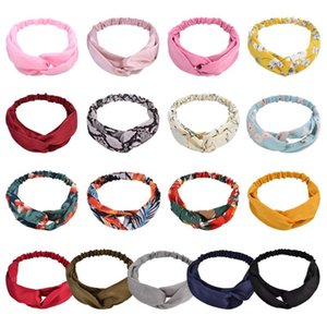 Wholesale pink mask for girls resale online - Designer Headband For Girls Mask Face Fashion Head Band Boho Cross Knot Hair Sweet Daisy Hairbands Kids Accesories Accessories