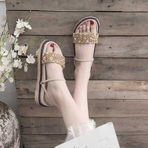 Wholesale sandals of girls resale online - Female Sandal Summer Sale Of Women s Shoes Med Clear Heels Two Weare Anti Skid Girls Fashion Elastic Band Medium Comfor Sandals