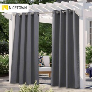 Wholesale grommets curtains for sale - Group buy NICETOWN Colors Outdoor Curtain Drape Blackout Light Blocking Fade Resistant with Grommet Rust Proof for Porch Beach Patio L0320