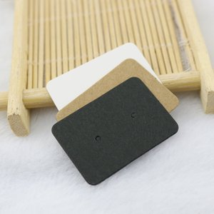 Wholesale blank hang tags resale online - Stud Packaging Materials Blank Kraft Paper Ear Studs Card Earring Card DIY Hang Tag White Black Kraft Q2