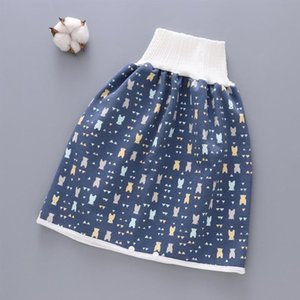 Wholesale baby diapers resale online - High Waist Cotton Blend Absorbent Home Leak proof Shorts Comfy Non Slip Portable Washable Waterproof Children Diaper Skirt Baby Cloth Diaper