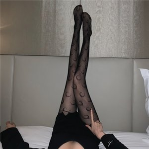 Wholesale sexy girls mooning resale online - Socks Spring Fashion Brand Moon Pantyhose Fishing Net Silk Sexy Girls Bla Stoings Children