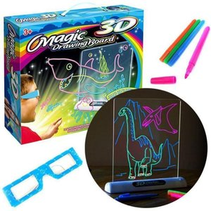 Wholesale color for 3d pen for sale - Group buy Magic Color Scratch Art Paper Coloring Cards Available On Both Sides Scraping Drawing Toys For Children Pen D Glasses Q0313