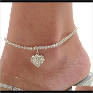 Wholesale sexy ankle bracelets resale online - Charm Bracelets Jewelry Drop Delivery S Heart Women Chain Anklet Ankle Bracelet Sexy Barefoot Sandal Beach Foot For Lady Perfect Gift