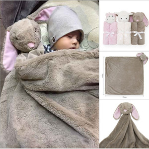 Wholesale 7styles Baby Blanket Cartoon Rabbit Sheep Elephant Bear Plush Toy Newborn Bedding Soft Comfortable Blankets Kids Gift