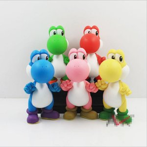 Wholesale Super Mario Bros Yoshi Color Loong toys EMS Free new children PVC Super Mario Bros cm Animation game series toy B001