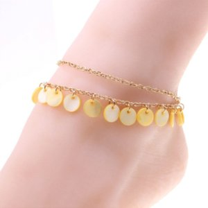 1pc Unique Beautiful gilded shell Anklet Bracelet Foot Jewelry pulseras tobilleras anklets Chain on foot wholesale