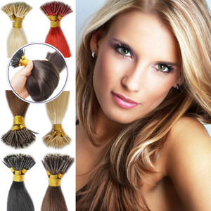 Top Quality 1gr s 7A Nano Ring 18'' 400strands Lot Color 1# & 100st Color 2# straight wave, free shipping