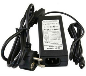 Wholesale AC Power Supply Adapter DC 24V 3A 5A 6A 120W Transformer for LED Light Strip Monitor Printer + Power Cable Cord