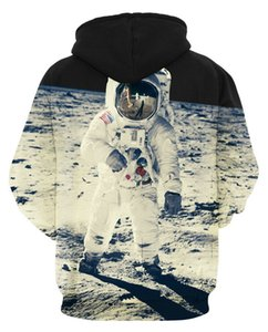 Wholesale 2017 HOT Universe Space Couples 3D digital printing Sweatshirts Men women Tiger Animal Galaxy SKull Design Hoodies Hiphop creative Pullover