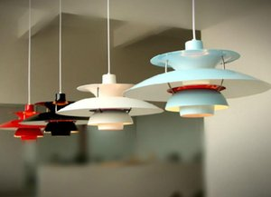 Modern Contemporary Poul Henningsen PH5 Pendant Lamp Loui Poulsen Suspension Lamp Pendant Chandelier 5 Colors free shipping