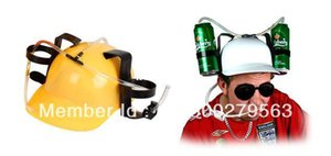 Wholesale Beer Can Holder Helmet Drinking Helmet Drinking Hat Drinking Straw Three Colors
