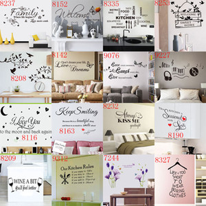 Wholesale New Arrivals Removable Quotes Wall Stickers Nusery Rooms Decorative Wall Decals Home Wallpaper Wall Art wall paper