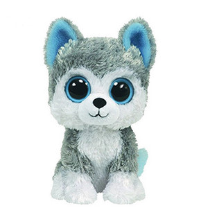Wholesale New toy gifts pc18cm Hot Sale Beanie Boos Big Eyes Husky Dog Plush Toy Doll Stuffed Animal Cute Plush Kids Toy