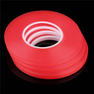 Wholesale Transparent Clear Adhesive Transparent Double side Adhesive Tape Heat Resistant Universal cellphone repair sticker red