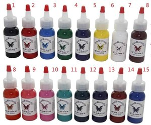 Wholesale tattoo color ink free resale online - Tattoo ink kit tattoo pigment set OZ Iron butterfly color set C131 ml