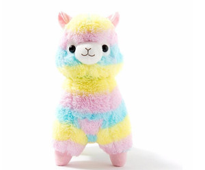 Wholesale 17cm Cute Rainbow Alpacasso Kawaii Alpaca Llama Arpakasso Soft Plush Toy Doll Stuffed Animals Boy girl birthday gift