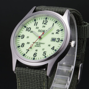 Wholesale Big Sale New Fashion Soldier Military Quartz Canvas Strap Fabric Watch Men Outdoor Sports Watches For Male Casual