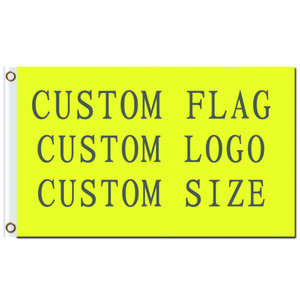FREE SHIPPING Wholesale Digital Printing Single layer Polyester Custom Design Flag 3x5ft with Two Brass Grommets