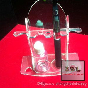 Wholesale China price Acrylic display stand for E Cigarett oval shape e cigarette for ego evod and eliquid bottle