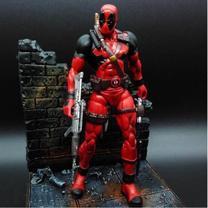 Wholesale 18CM X man Deadpool Joint Movable Wade Winston Wilson PVC Action Figure Collection Model Kids Toy Doll