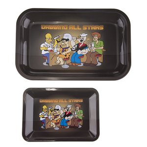 Wholesale Rolling Tray Dabbing All stars Trays Small Large Size cm cm cm cm cm cm Metal Tobacco Brass Plate Herb Handroller