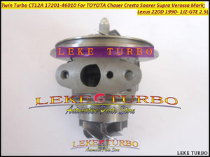 Wholesale toyota supra resale online - Twin Turbo Cartridge CHRA CT12A Turbocharger For TOYOTA Chaser Cresta Soarer Supra Verossa Mark Lexus D JZGTE JZ GTE L