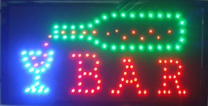 Wholesale Led Neon Bar Beer Pub Drinking Sign lights Plastic PVC frame Display advertising sign size 10*19 inch
