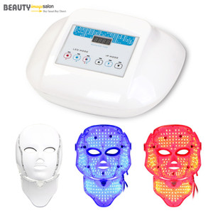 Wholesale Hot Sale Red Blue Color Lights Photon PDT Therapy Skin Rejuvenation Mask Wrinkle Removal Face Neck LED Beauty Machine