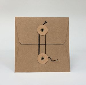 Wholesale Brown Kraft Paper Sleeves Envelopes for Media Gift Jewelry Packaging Shipping Packing Protective Bags Cover Durable